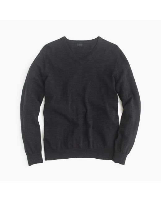 J.Crew | Black Rugged Cotton V-neck Sweater for Men | Lyst
