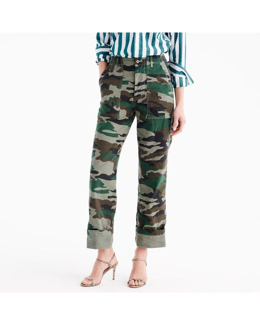 J.Crew | Green Camouflage Foundry Pant | Lyst