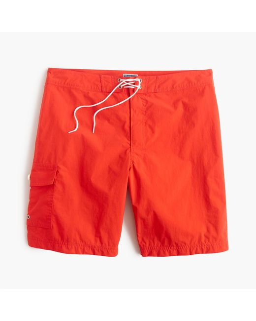 "J.Crew | Orange 9"" Board Short for Men 
