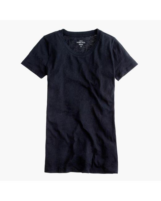 J.Crew   Black Vintage Cotton T-shirt   Lyst