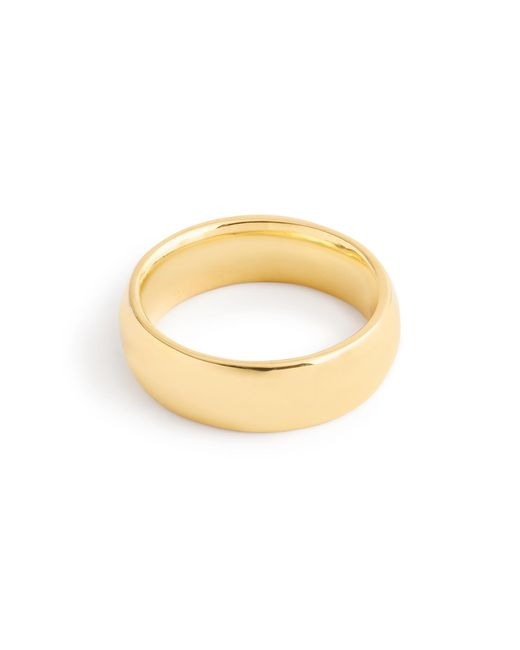 J.Crew | Metallic 14k Gold 6mm Rounded Band | Lyst