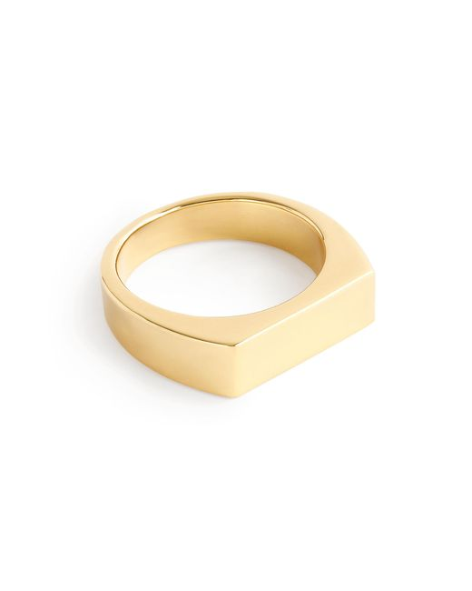 J.Crew | Metallic 14k Gold Rectangle Signet Ring | Lyst