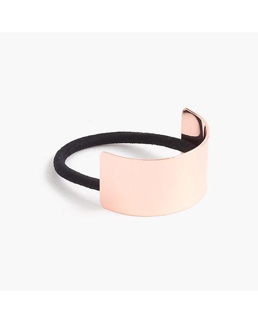 J.Crew   Pink Curved Metal Hair Elastic   Lyst