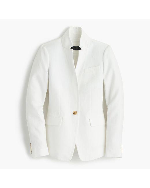 J.Crew | White Regent Blazer In Linen | Lyst