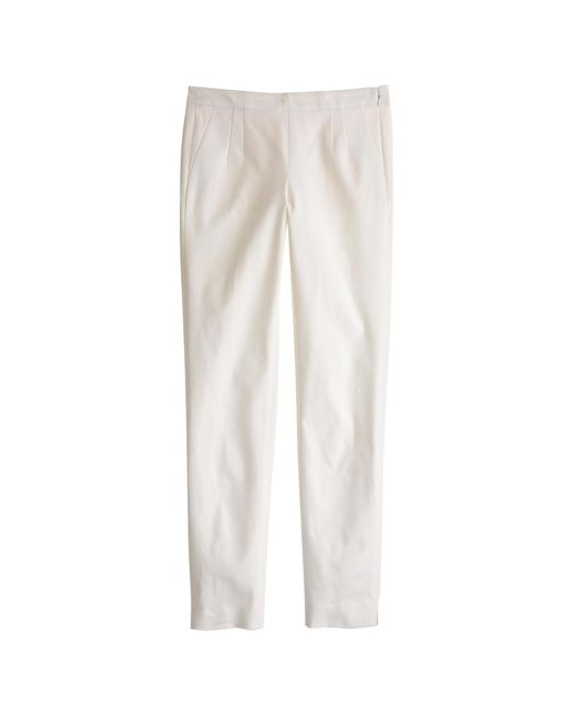 J.Crew | White Petite Martie Pant In Two-way Stretch Cotton | Lyst