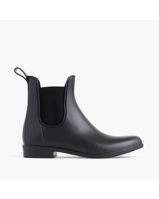 J.Crew | Black Matte Chelsea Rain Boots | Lyst