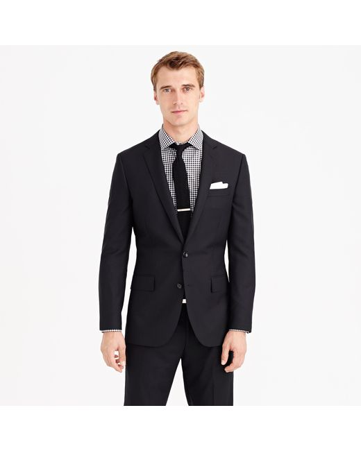 J.Crew   Black Ludlow Suit Jacket With Double Vent In Italian Wool for Men   Lyst