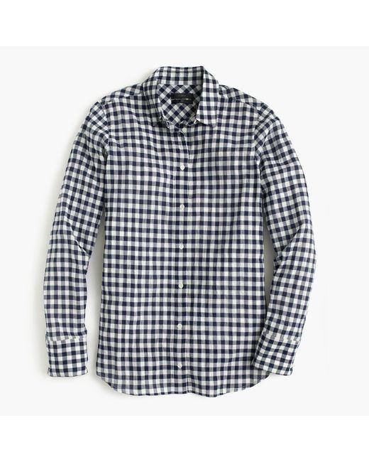 J.Crew | Black Boy Shirt In Crinkle Gingham | Lyst