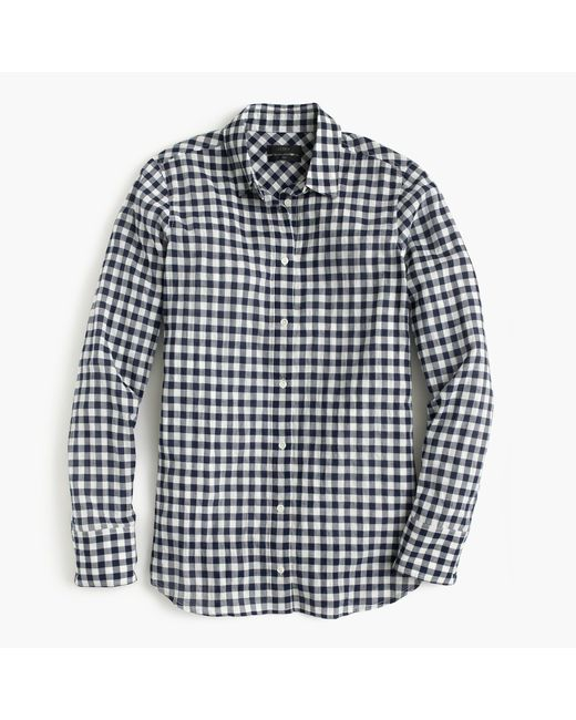 J.Crew | Black Boy Shirt In Crinkle Gingham | Lyst