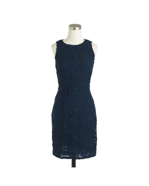 J.Crew   Black Tall Sleeveless Floral Lace Sheath Dress   Lyst