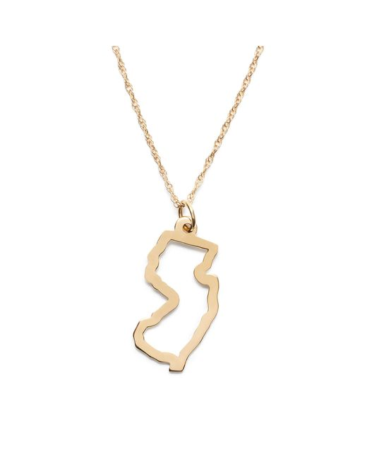 J.Crew   Metallic Maya Brenner 14k Gold State Necklace   Lyst