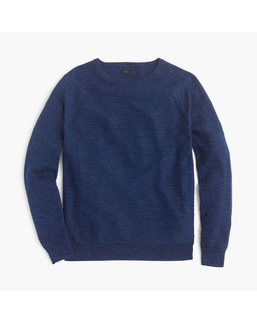 J.Crew | Blue Rugged Cotton Sweater for Men | Lyst