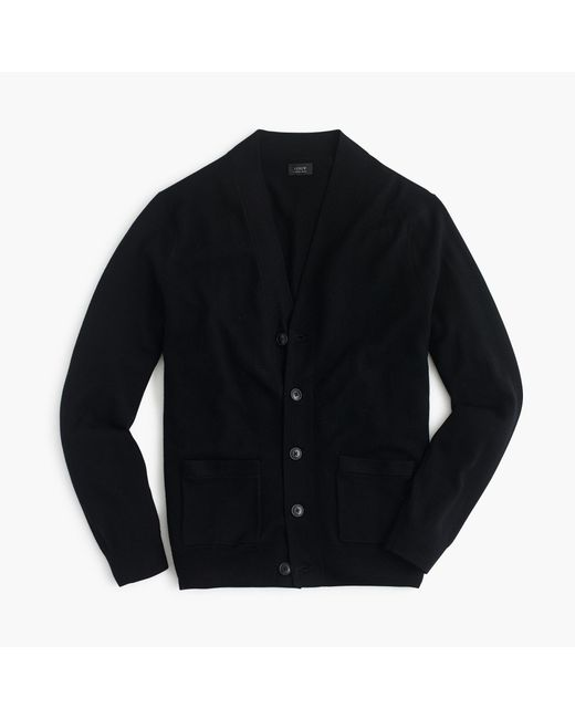 J.Crew | Black Merino Wool Cardigan Sweater for Men | Lyst