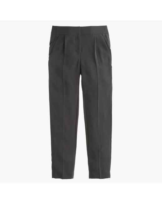 J.Crew   Gray Tall Pleated Crepe Trouser   Lyst