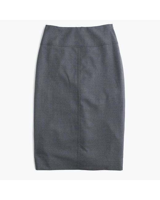 J.Crew | Gray Petite Director Pencil Skirt In Super 120s Wool | Lyst