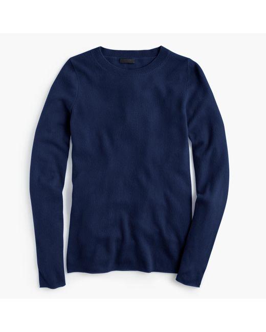 J.Crew | Blue Italian Cashmere Long-sleeve T-shirt | Lyst