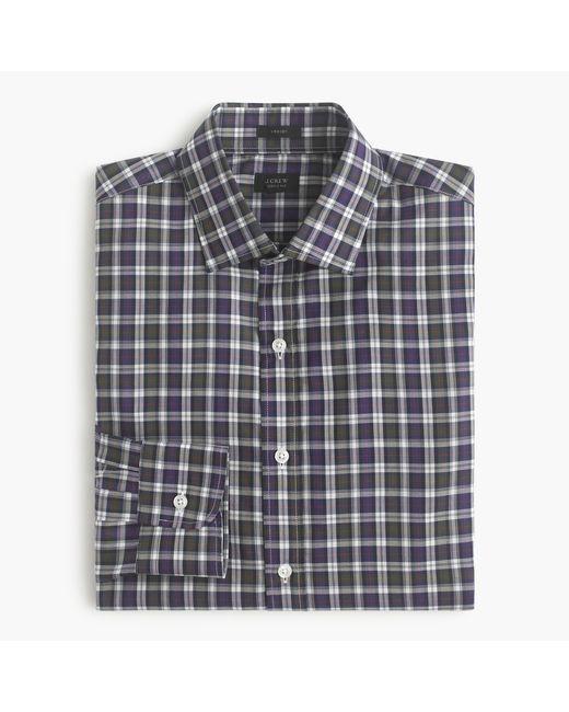 J.Crew | Blue Crosby Shirt In Borland Tartan for Men | Lyst