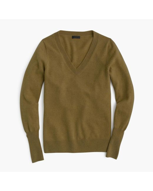 J.Crew | Green Italian Cashmere Classic V-neck Sweater for Men | Lyst