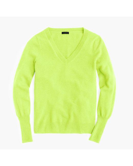 J.Crew | Yellow Italian Cashmere Classic V-neck Sweater for Men | Lyst