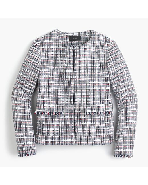 J.Crew | Multicolor Jacket In Lightweight Tweed | Lyst