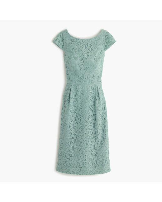 J.Crew   Green Elsa Dress In Leavers Lace   Lyst