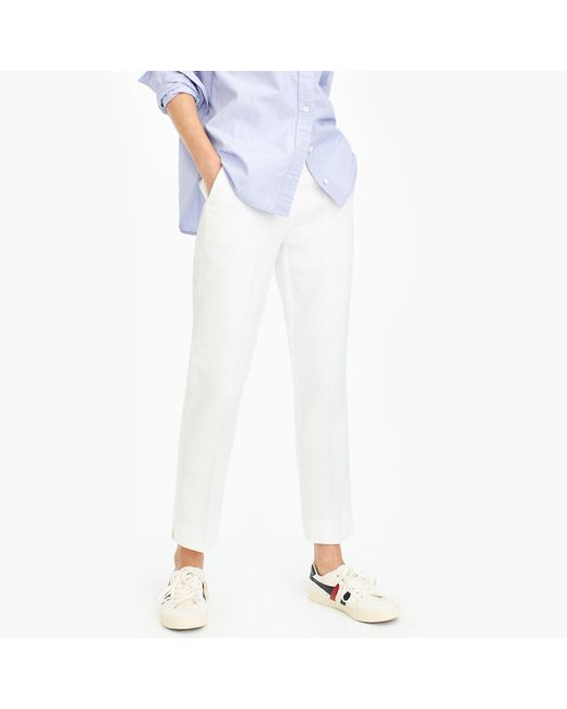 J.Crew - White Petite Easy Pant Stretch Linen for Men - Lyst