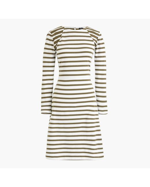 J.Crew - White Tall 365 Knit Fit-and-flare Dress In Stripe - Lyst