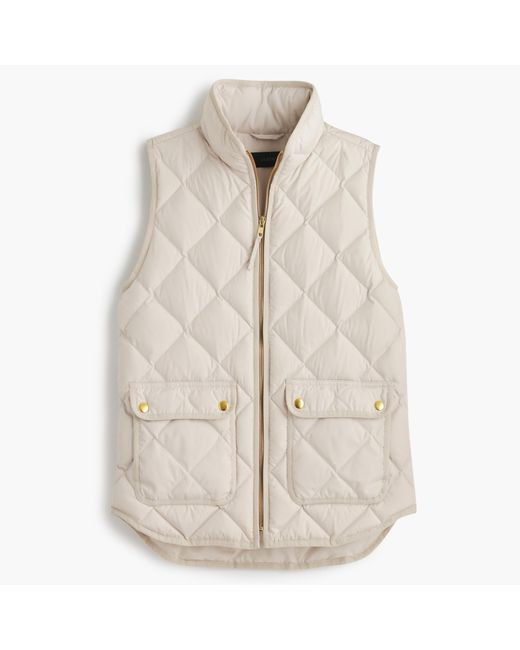 J.Crew | Natural Excursion Quilted Down Vest | Lyst