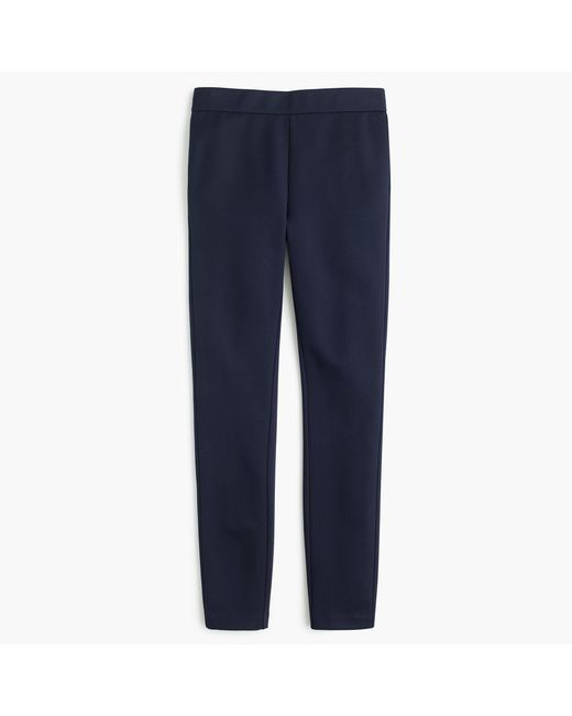 J.Crew - Blue Petite Any Day Pant In Stretch Ponté - Lyst