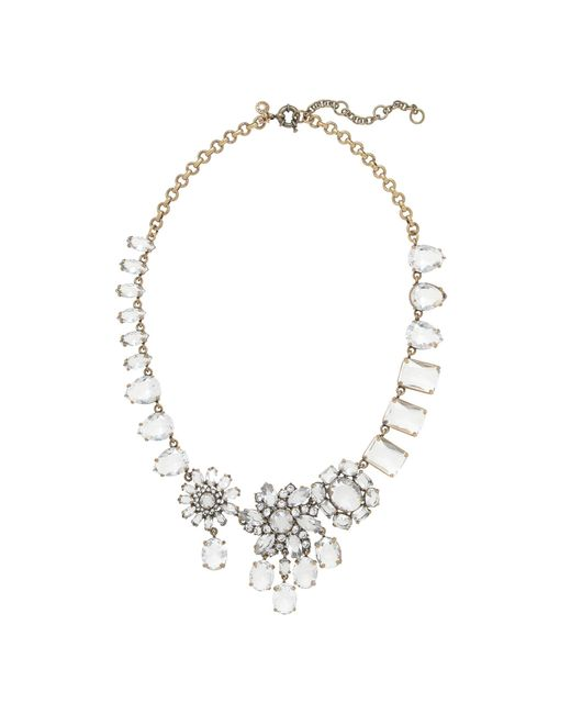 J.Crew | Metallic Crystal Collage Necklace | Lyst