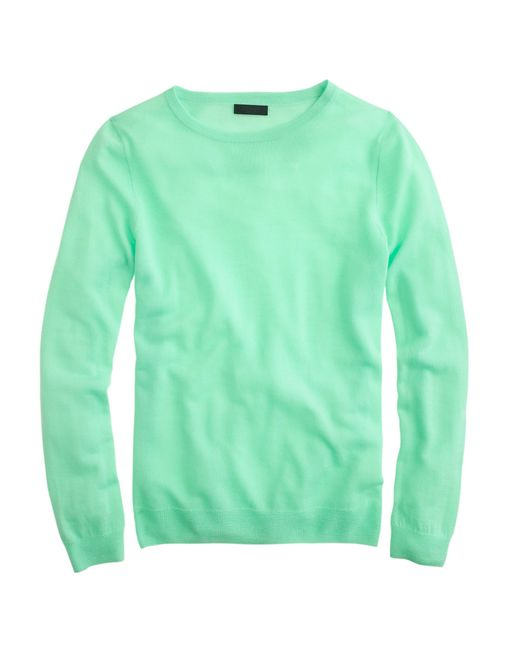 J.Crew | Green Italian Featherweight Cashmere Long-sleeve T-shirt | Lyst