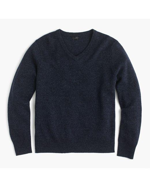 J.Crew | Blue Lambswool V-neck Sweater for Men | Lyst