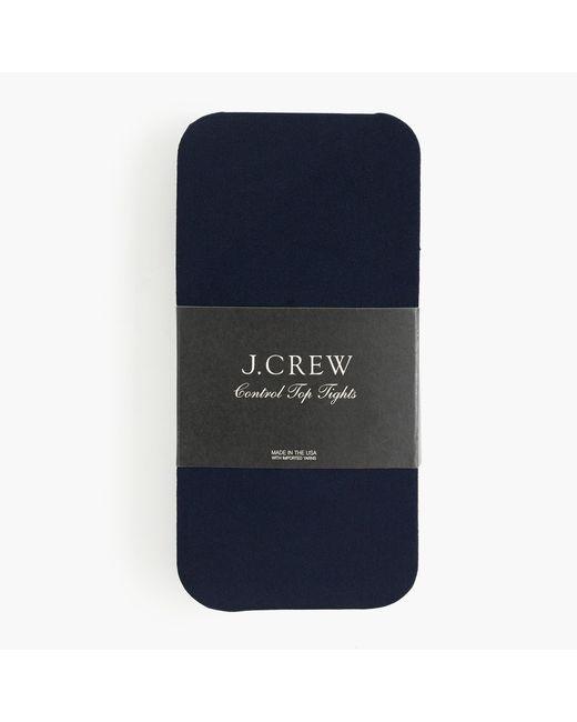 J.Crew - Blue Control Top Tights - Lyst