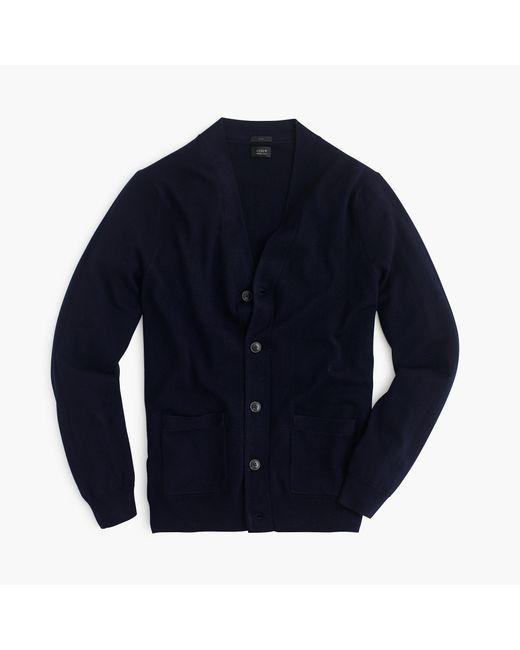 J.Crew   Blue Slim Merino Wool Cardigan Sweater for Men   Lyst