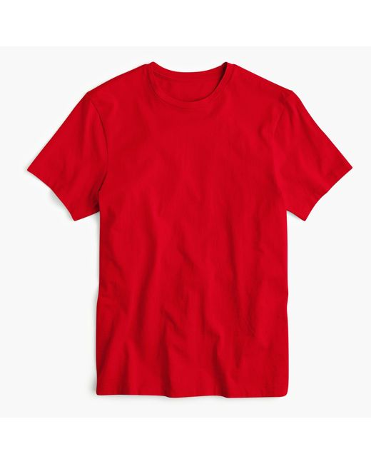 J.Crew - Red Mercantile Broken-in V-neck T-shirt for Men - Lyst