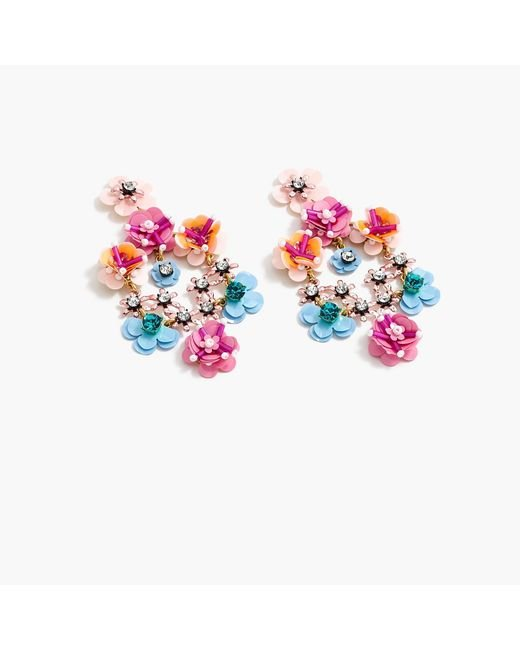 J.Crew - Multicolor Flower Garden Earrings - Lyst