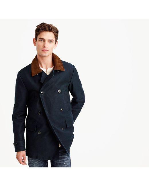 J.Crew | Blue Dock Peacoat In Cotton for Men | Lyst