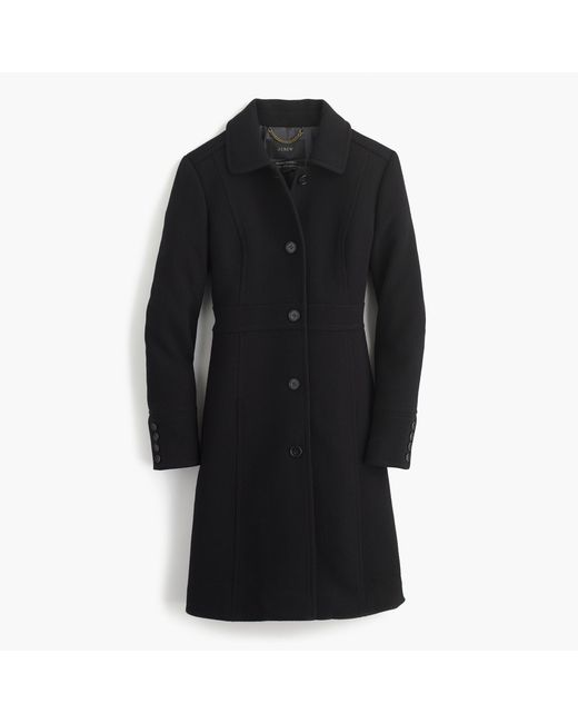 J.Crew | Black Italian Double-cloth Wool Lady Day Coat With Thinsulate | Lyst