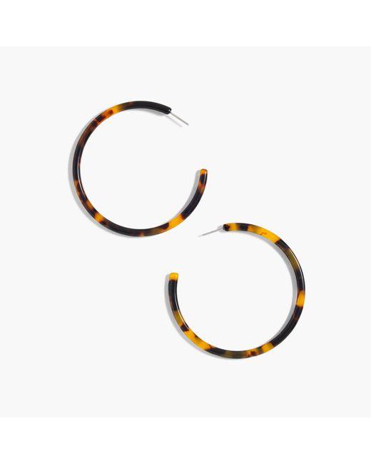 J.Crew | Multicolor Tortoise Hoop Earrings | Lyst