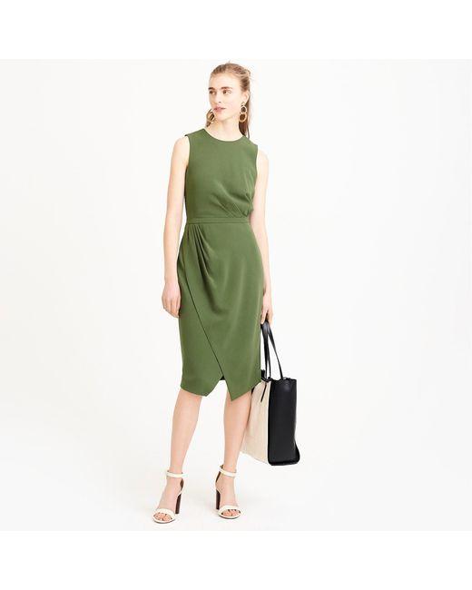 J.Crew - Green Asymmetrical Sheath Dress - Lyst