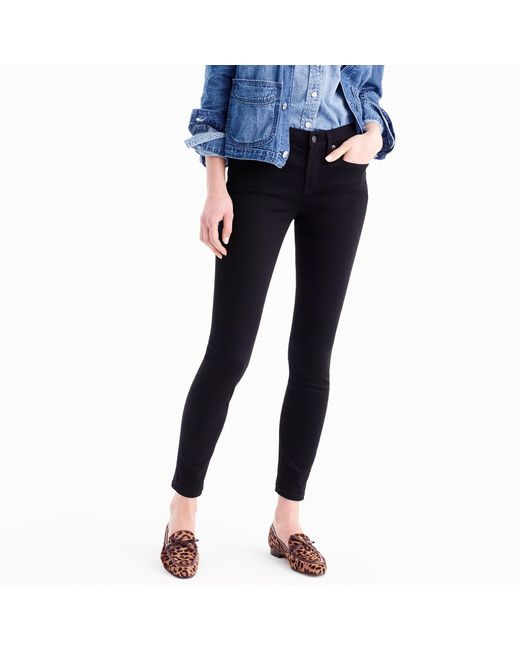 "J.Crew - 8"" Toothpick Jean In True Black - Lyst"