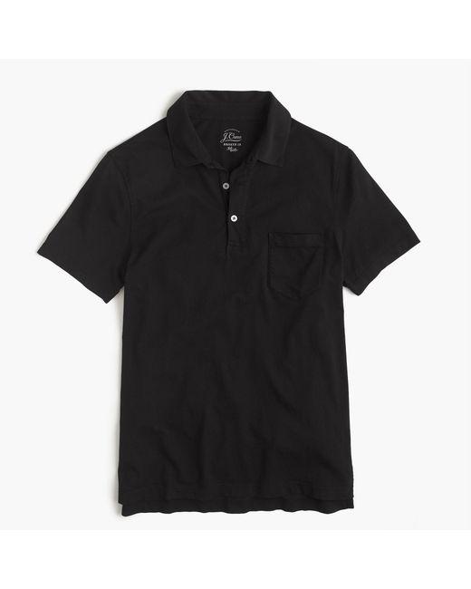 J.Crew - Black Tall Broken-in Pocket Polo Shirt for Men - Lyst