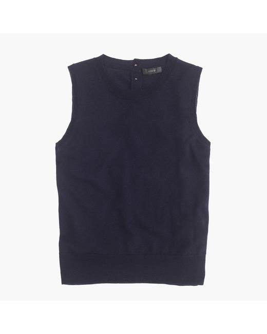 J.Crew | Blue Lightweight Wool Jackie Sweater Shell | Lyst