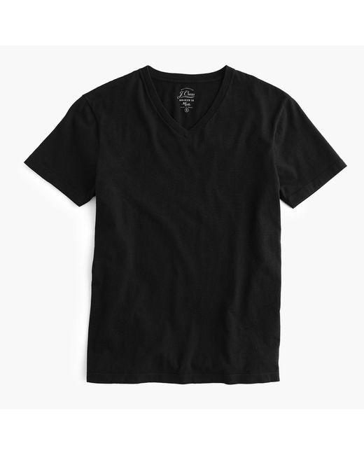 J.Crew - Black Mercantile Broken-in V-neck T-shirt for Men - Lyst