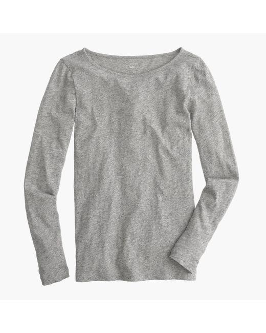 J.Crew | Gray Petite Long-sleeve Painter T-shirt | Lyst