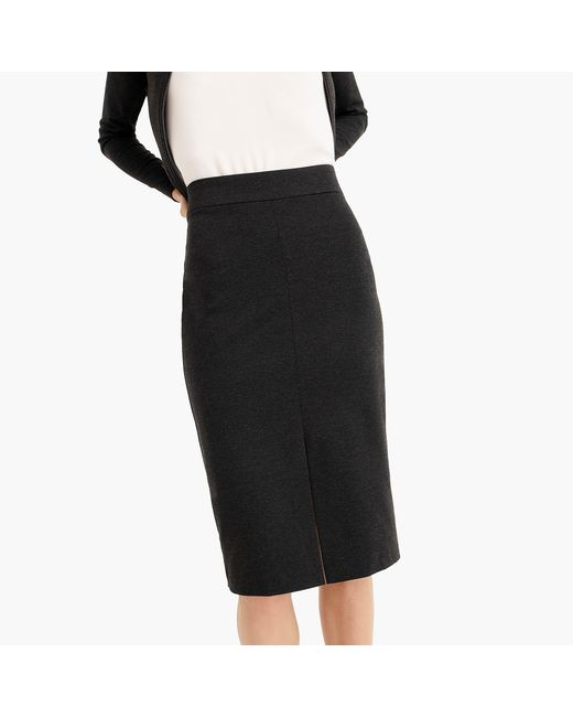 cf2a479ac1bf ... J.Crew - Gray Petite A-line Pencil Skirt In Recycled Ponte - Lyst ...