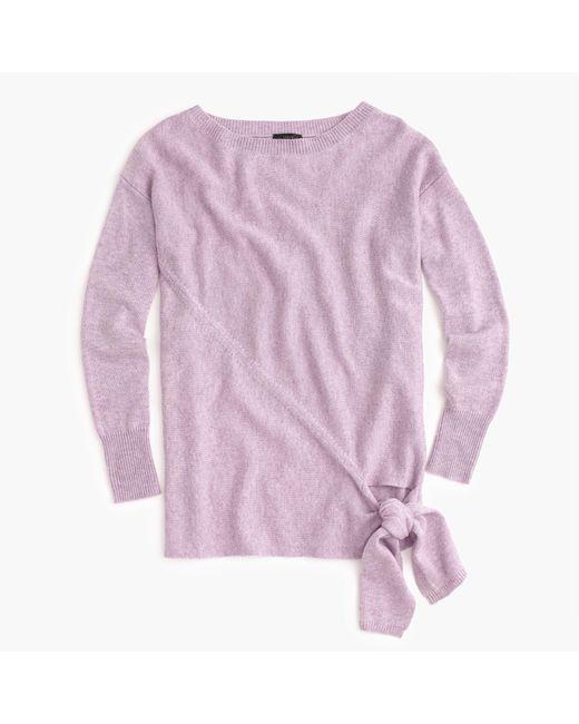 J.Crew | Multicolor Tie-waist Boatneck Sweater | Lyst