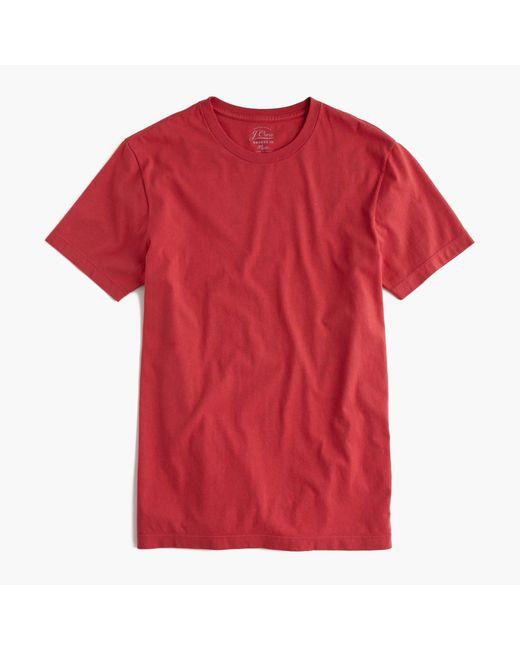 J.Crew | Red Slim Broken-in T-shirt for Men | Lyst