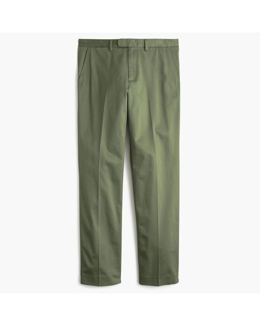 J.Crew   Green Bowery Slim Pant In Stretch Chino for Men   Lyst