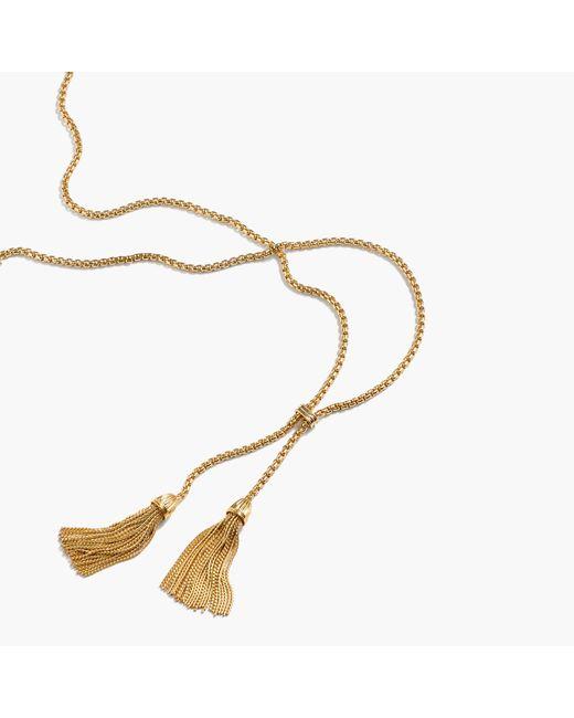 J.Crew | Metallic Tassel Chain Necklace | Lyst